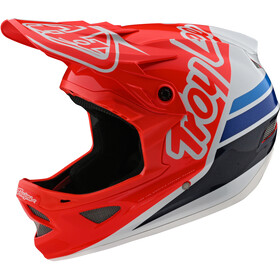 Troy Lee Designs D3 Fiberlite Helm silhouette red/white